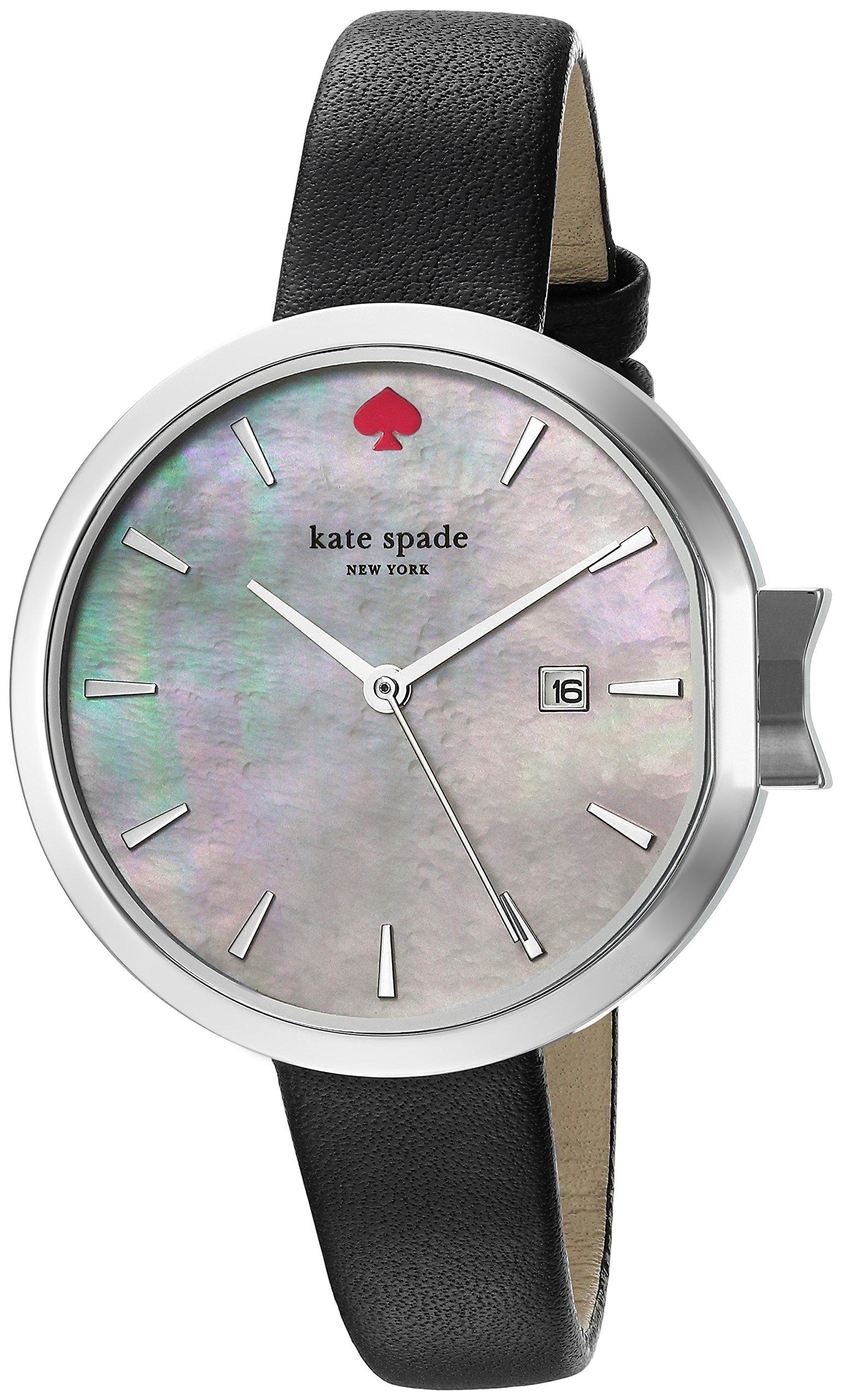 Kate Spade New York Women's KSW1269 Park Row Analog Display Japanese Quartz Black Watch