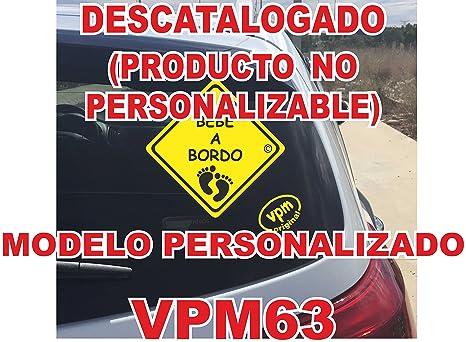 Adhesivo personalizado Bebé a bordo VPC63. DISEÑO EXCLUSIVO DE VPM ORIGINAL. NO COMPRAR AL VENDEDOR