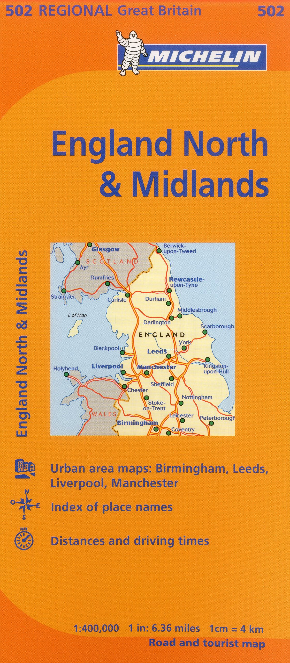 Map Of England Midlands.Michelin Map Great Britain England North The Midlands 502 Maps