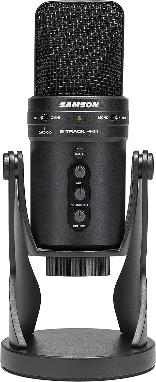 Samson G-Track Pro Professional USB Condenser Microphone with Audio Interface