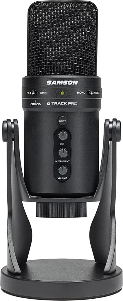 Samson G-Track Pro USB Vocal Recording Condenser Microphone Audio Interface