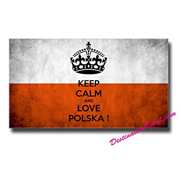 2 x glossy vinyl stickers poland polska polish flag sticker gift idea 0029