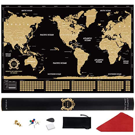 Scratch Off World Map With Us States.Amazon Com Scratch Off World Map Poster With Us States Extra