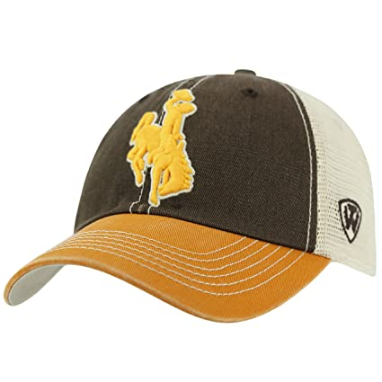 competitive price 50711 03c00 Image Unavailable. Image not available for. Color  Wyoming Cowboys Official  NCAA Adjustable Offroad Hat Cap by Top of the World 172712