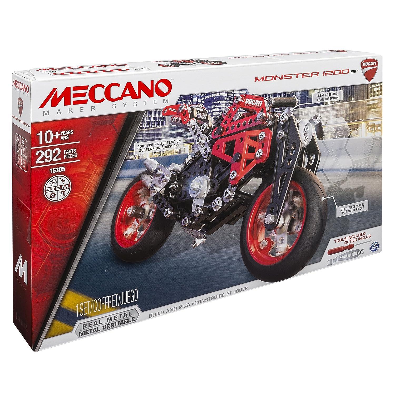 Meccano Elite Motorcycle Ducati Juego de construcción de varios modelos de vehículos