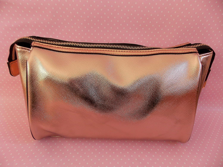 River Island Rose Gold Metallic Large Cosmetic Toiletry Bag  Amazon.co.uk   Beauty a514487ac7213