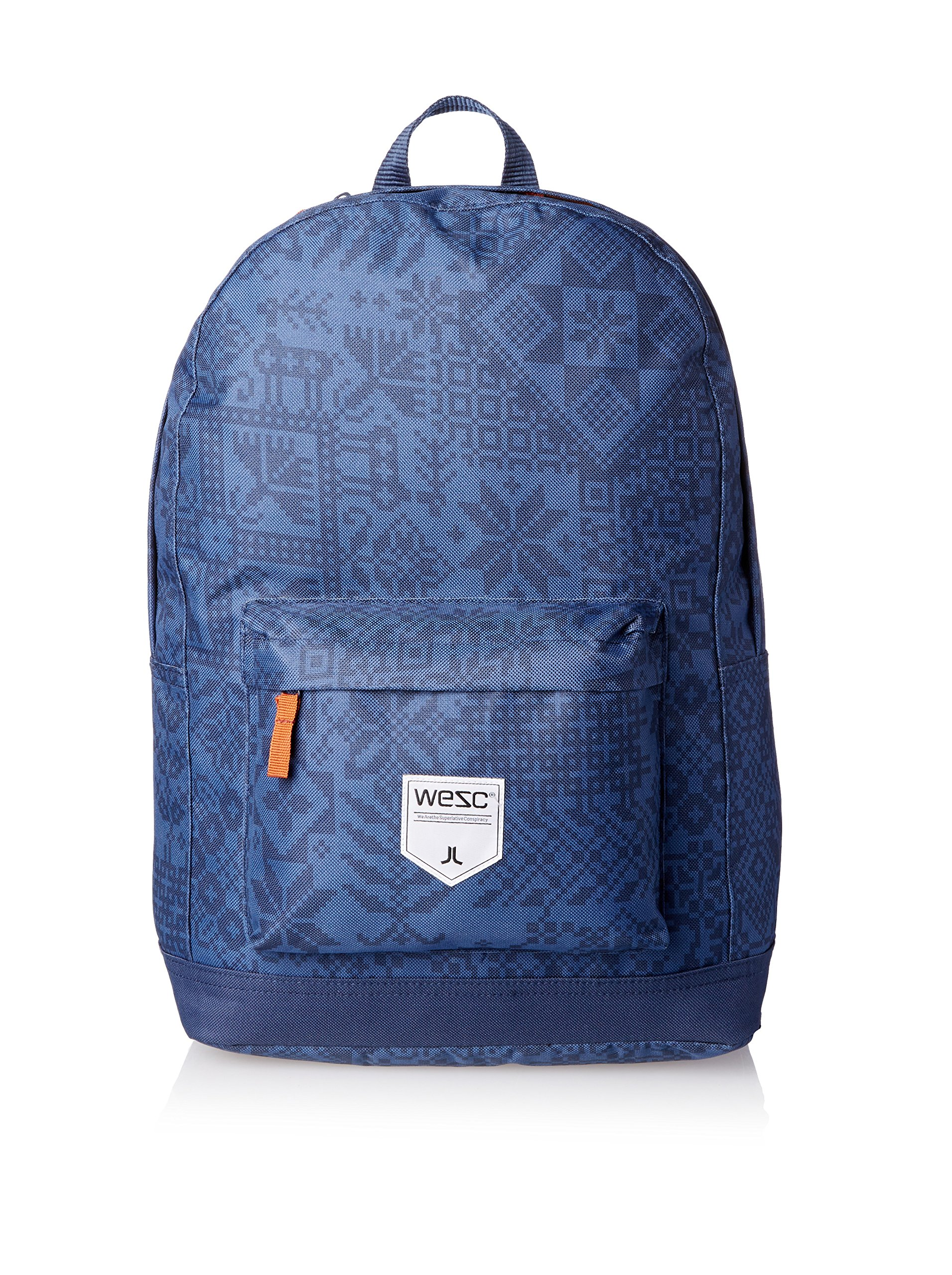 WeSC Men's Chaz Pattern Backpack, Blue Iris