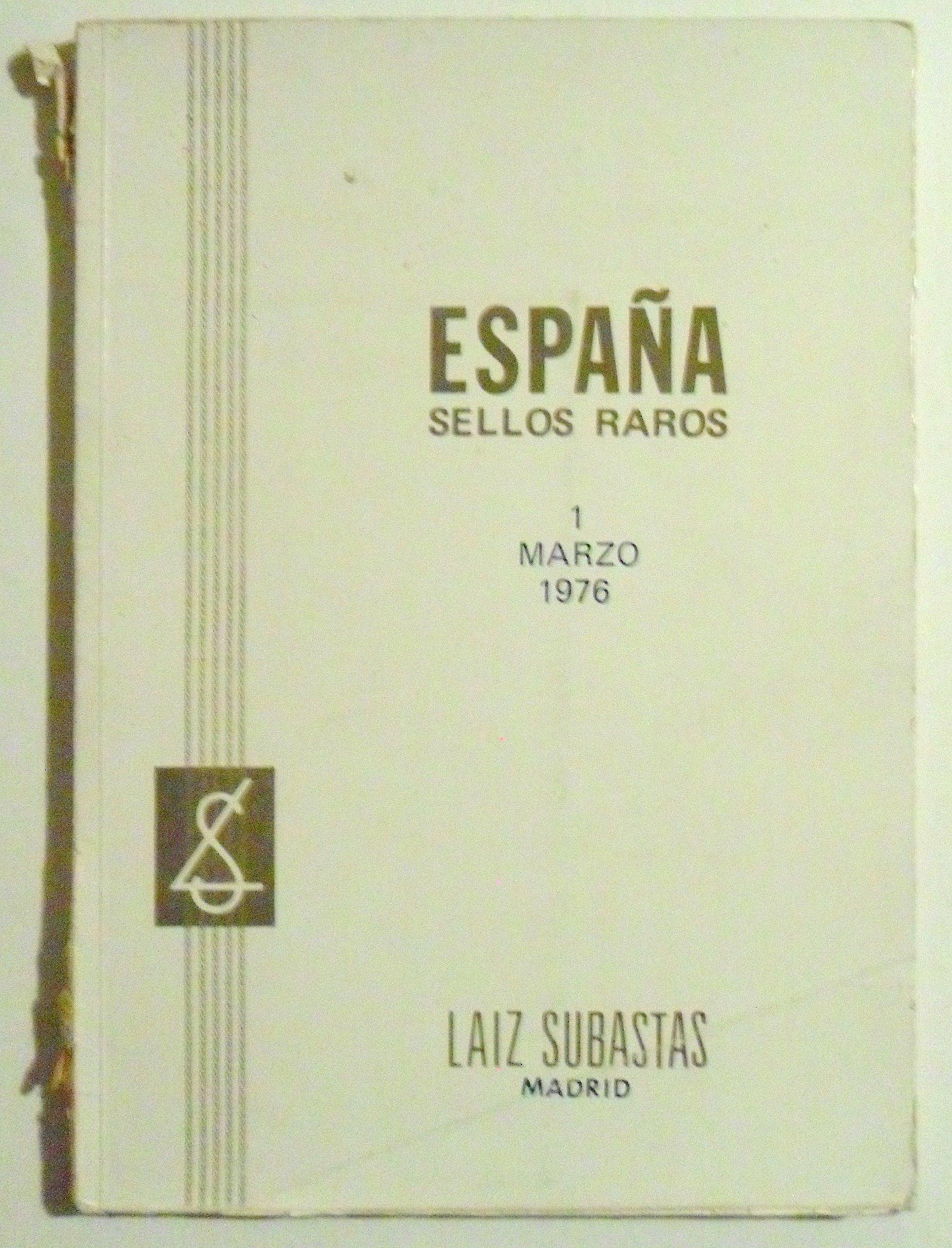 LAIZ SUBASTAS, ESPAÑA SELLOS RAROS 1976.: Amazon.es: LAIZ SUBASTAS ...