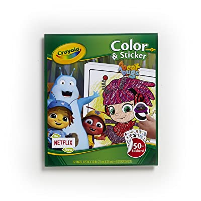Crayola Beat Bugs Color & Sticker Book, Gift for Kids, Age 3, 4, 5, 6: Toys & Games