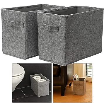 Hausfelder ORDNUNGSLIEBE Körbe zur Aufbewahrung und Dekoration - hohe  Aufbewahrungskörbe - Handtücher Toilettenpapier Bad-Deko Aufbewahrungsboxen  für ...