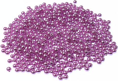 Purple jewellery making 6mm Glass faux Pearls 100 beads