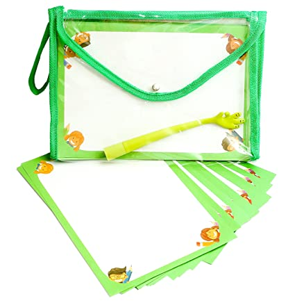 Drawing paper Kits with Beautiful pvc bag, Cool pen FREE gift! (Green)