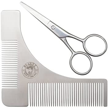 amazon com beard shaping tool and scissors kit shaper and styling