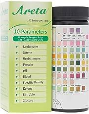 Easy@Home Areta 10 Parameter (10SG) Urinalysis Reagent Test Strips, 100 Strips