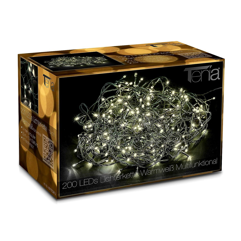 200 LED Catena luminosa Natale Luci minilucciole 20m Interni/esterni bianco freddo Tenia 8215006012 natalizio natalizia