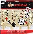 Amscan Casino wirbelt 12-decorations