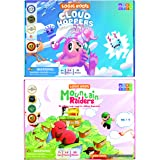 Logic Roots Addition and Subtraction Games - Pack of 2, Cloud Hoppers & Mountain Raiders, Math Board Games and STEM Toys for