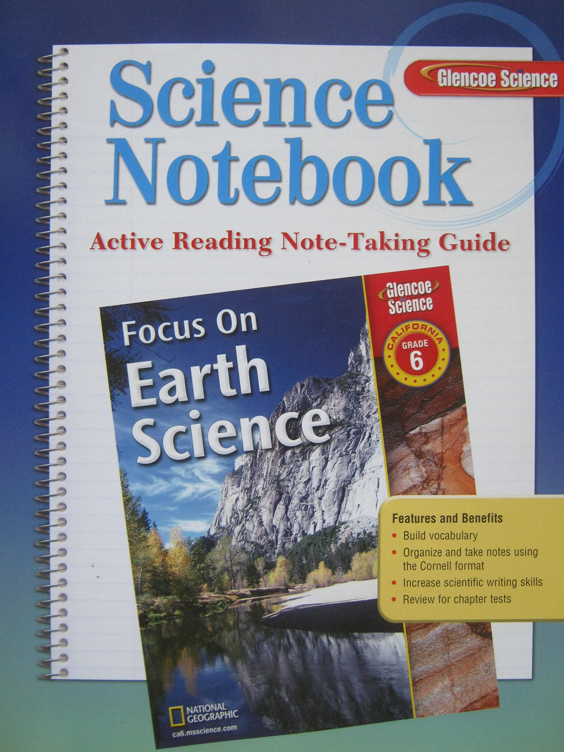 Glencoe Science Notebook Grade 6 California Edition: Active Reading Note-taking  Guide: not-available: 9780078794322: Amazon.com: Books