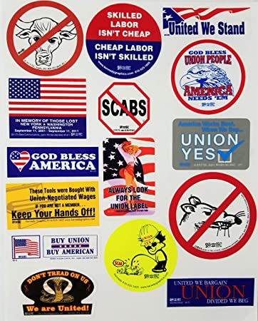 Skilled Labor Isn/'t Cheap Hard Hat Sticker Decal Union Organized Red White Blue