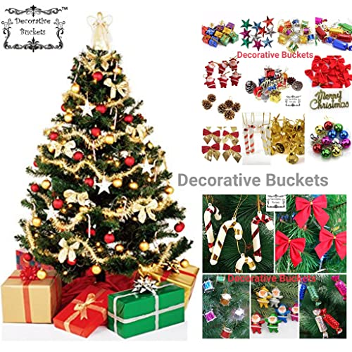 decorative bucketschristmas decorations set of 50 pcs christmas tree ornament assorted pack