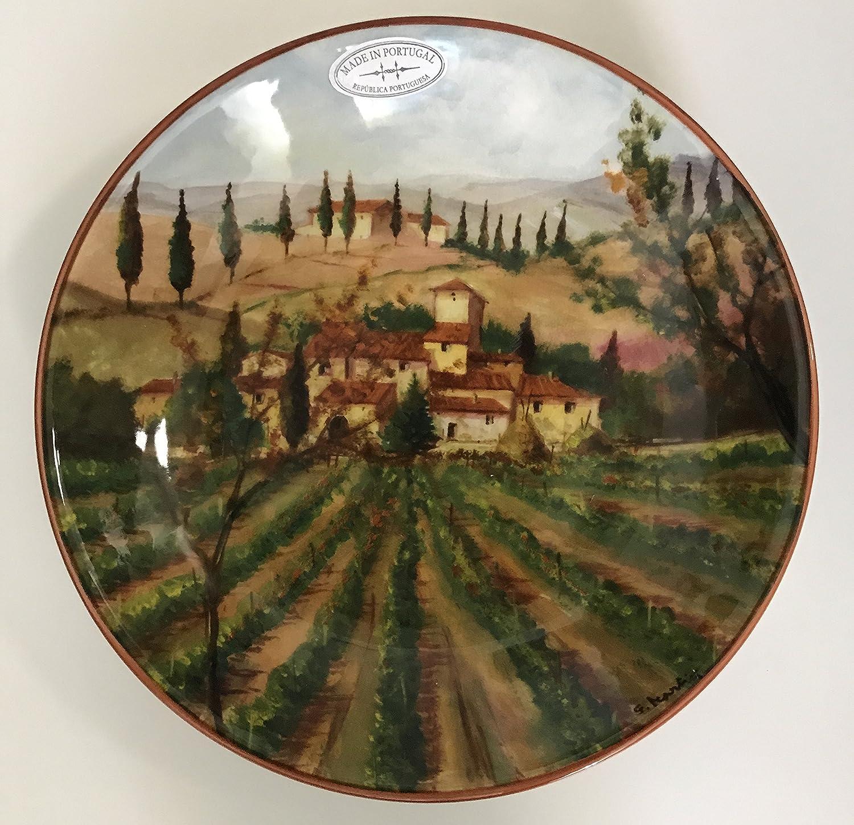 CMG italiano país lado diseño | Juego de 4 diseños | hecho a mano en Portugal cuencos de Pasta: Amazon.es: Hogar