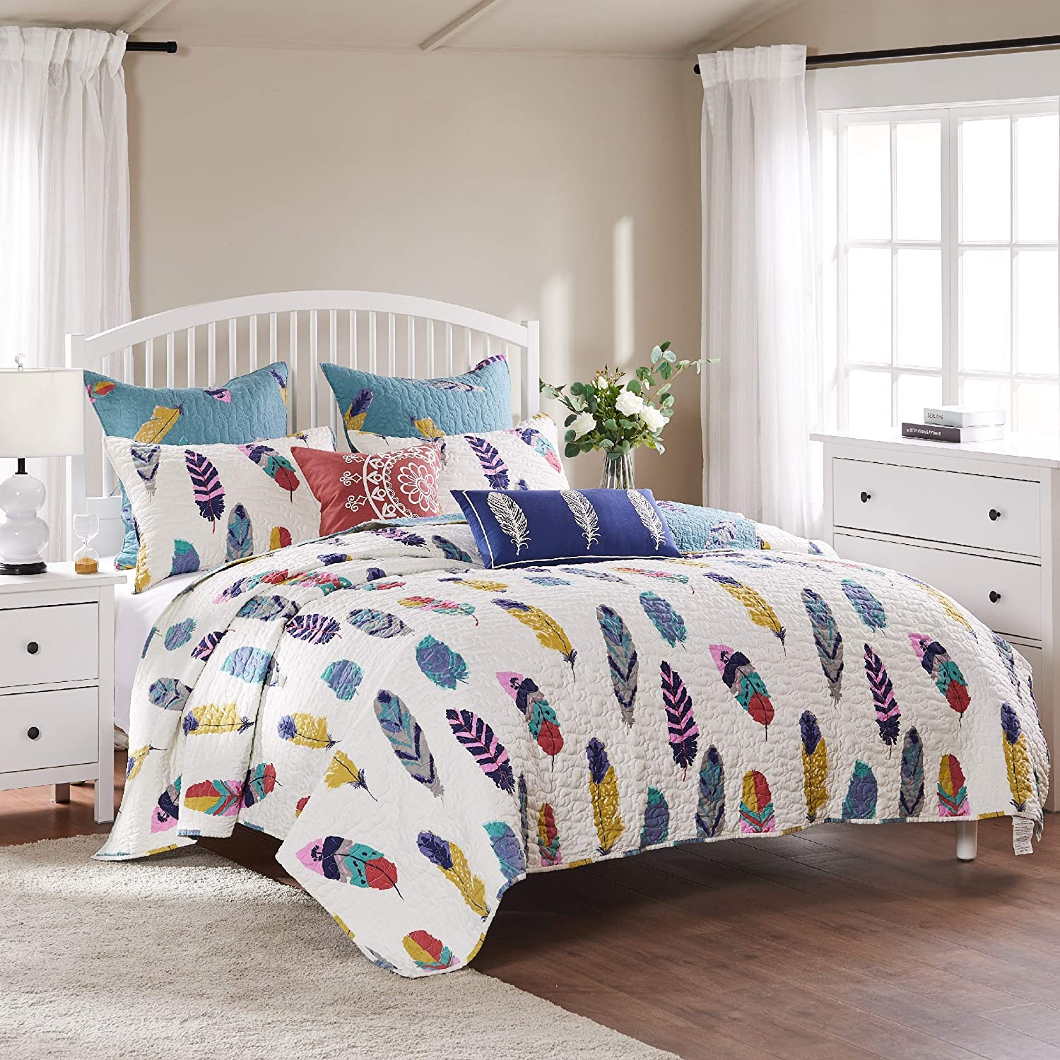 Greenland Home Dream Catcher Quilt Set, 5-Piece King/Cal King, Multi