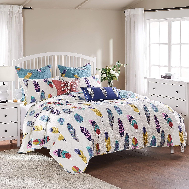 Greenland Home Fashions Dream Catcher Quilt Set, 4-Piece Twin/Twin XL, Multi