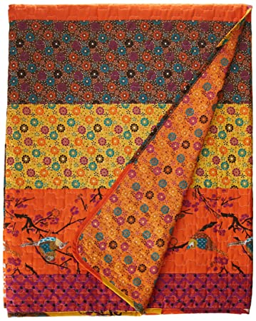 Lush Decor Royal Empire Throw 60 By 50 Inch Tangerine