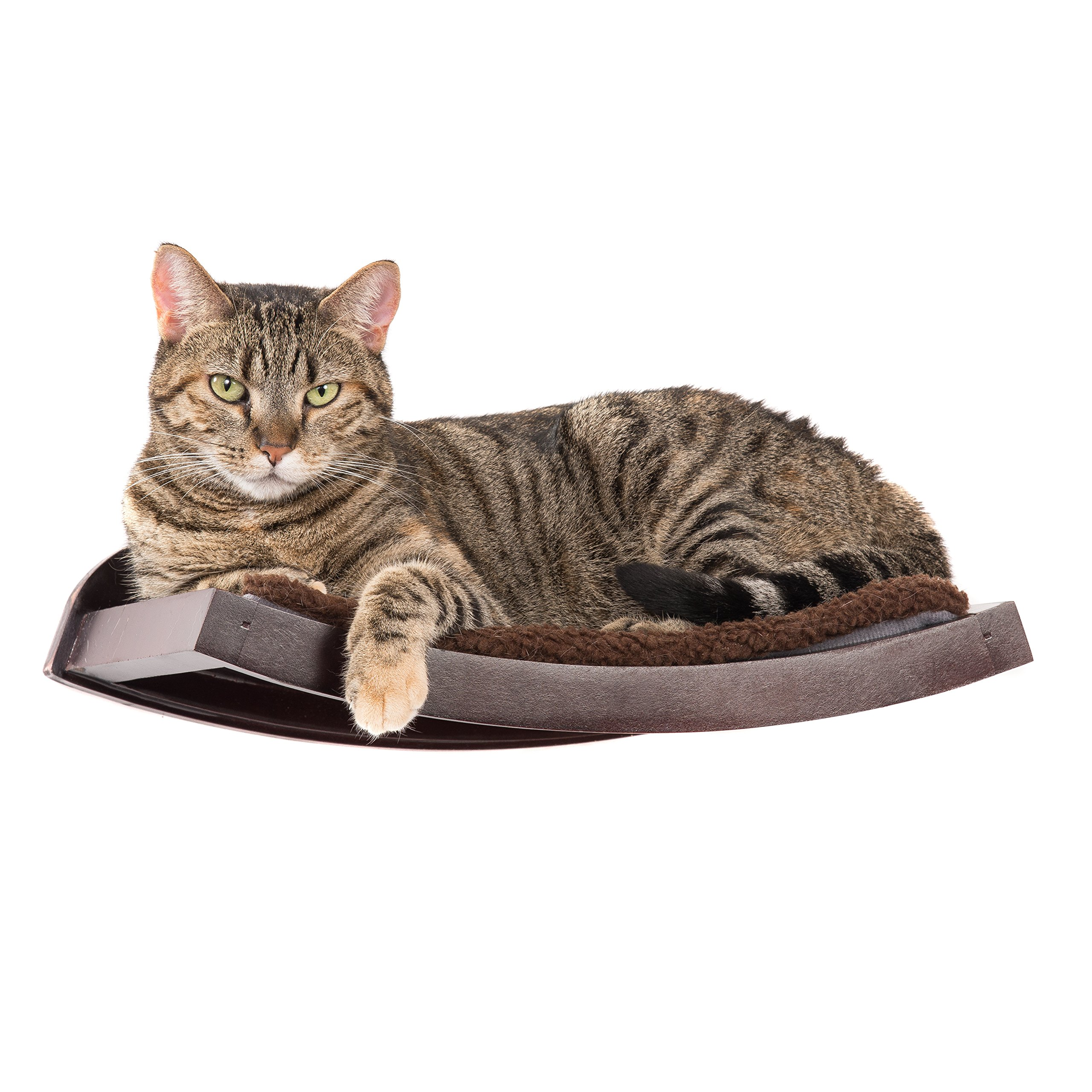 Art of Paws Cat Shelf | Cat Perch Cat Bed Curved Cat Hammock Design | Elegant Wood Wall-Mounted Cat Furniture | A Gift your cat will love! by Art of Paws (Image #1)