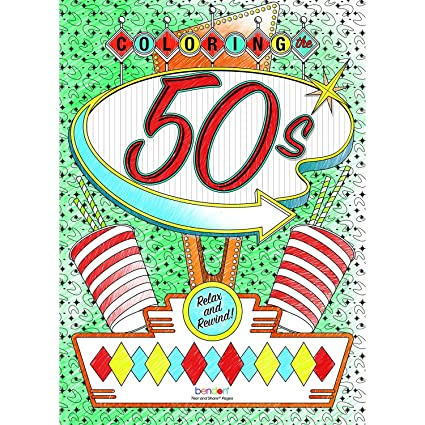 Bendon 12335 The 50\'s Advanced Coloring Book