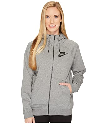 718d6cea306c Amazon.com  Nike Sportswear Rally Women s Full-Zip Hoodie (Carbon ...
