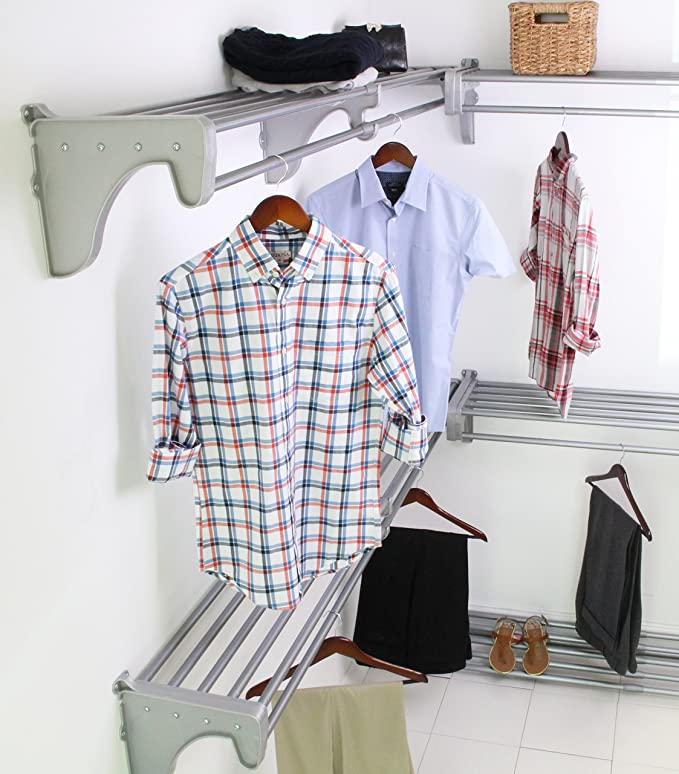 Amazon.com: EZ Shelf – Vestidor Kit. Ampliable hasta 30.8 ft ...