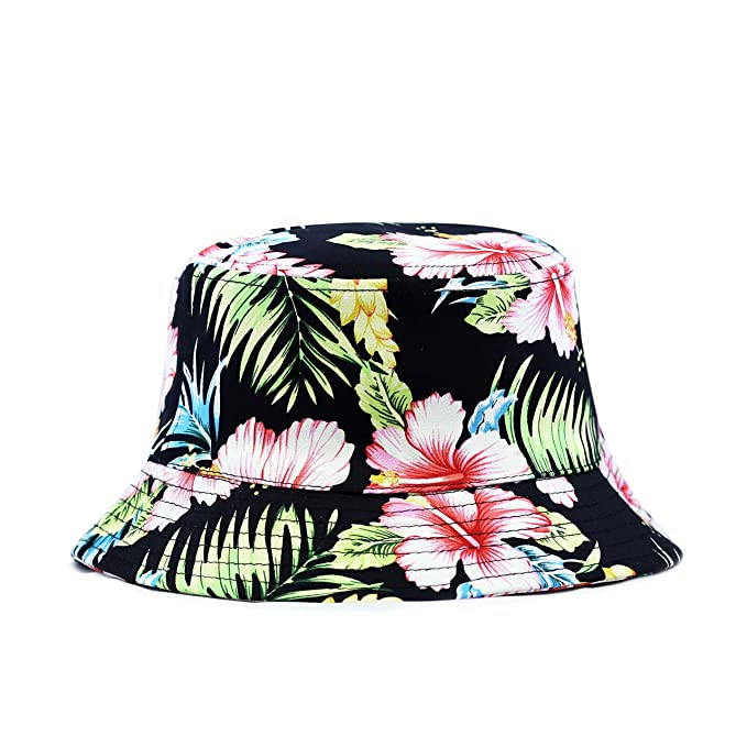 THE HAT DEPOT 200hf1400 Hawaiian Flower Bucket Hat - 2 Colors (L XL ... 0e03bd199f0