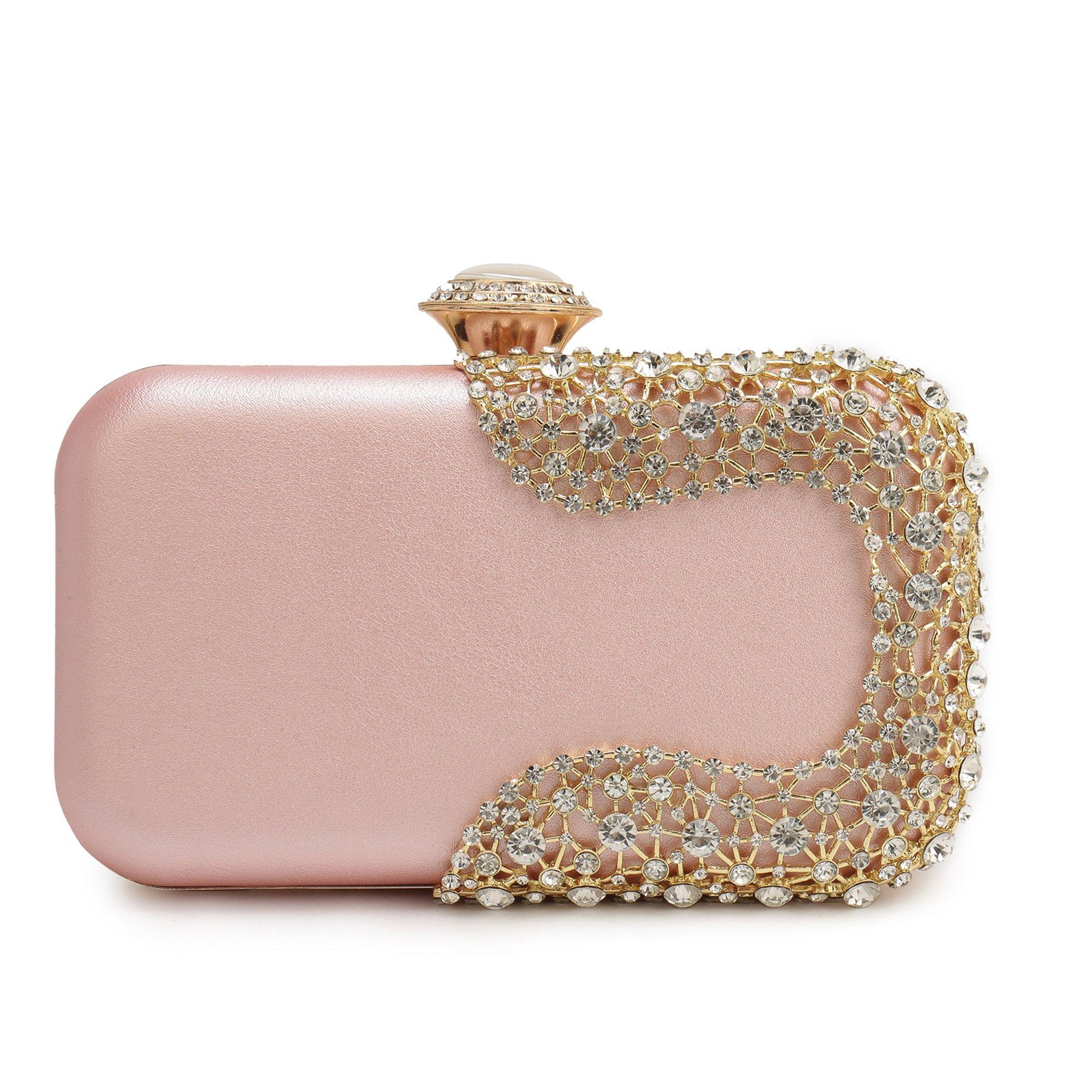 Gold Evening Clutch, Evening Bag Wedding Handbag Bridal Purses Cross Body Bag for Cocktail Prom