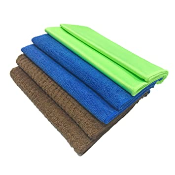 Juego de toallas de microfibra de polietileno, 6 unidades: Amazon.es: Hogar