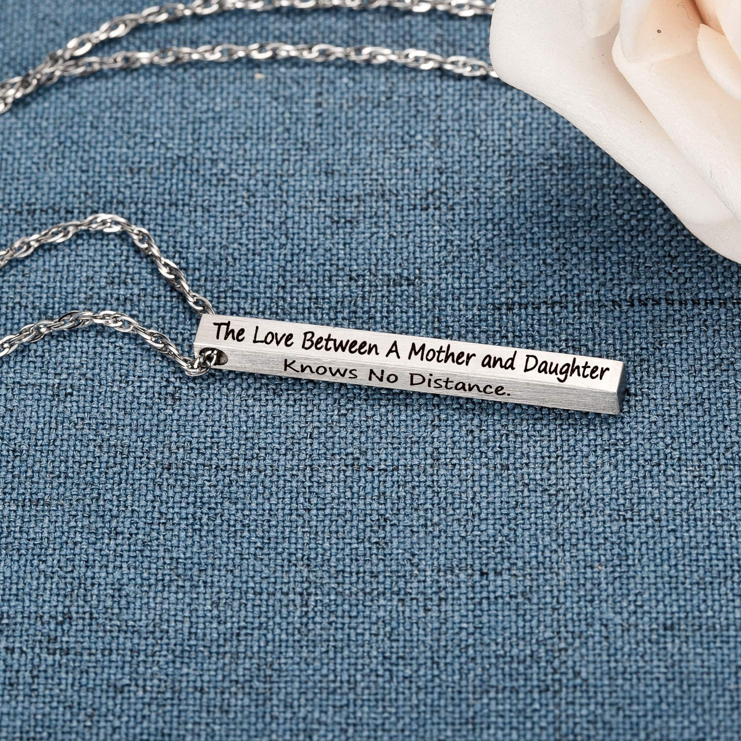 HusbandAndWife Long State Necklace Arizona and Colorado The Love Between Mother and Daughter Knows No Distance Funny Necklace Mom and Daughter Gifts for Long Distance Mom Jewelry for Women