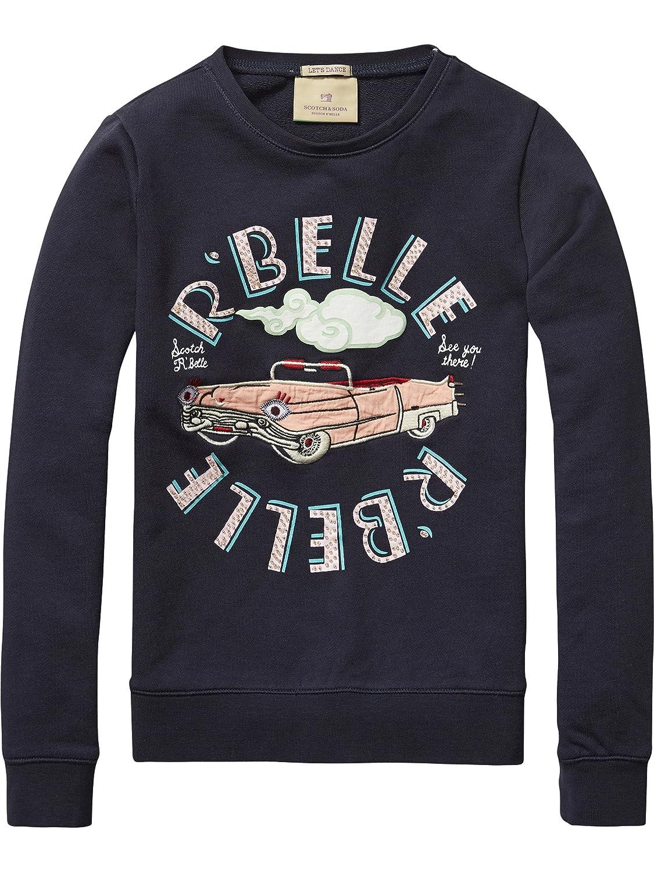 Scotch R'Belle Mädchen Sweatshirt Crew Neck Sweat with Embellished Artworks