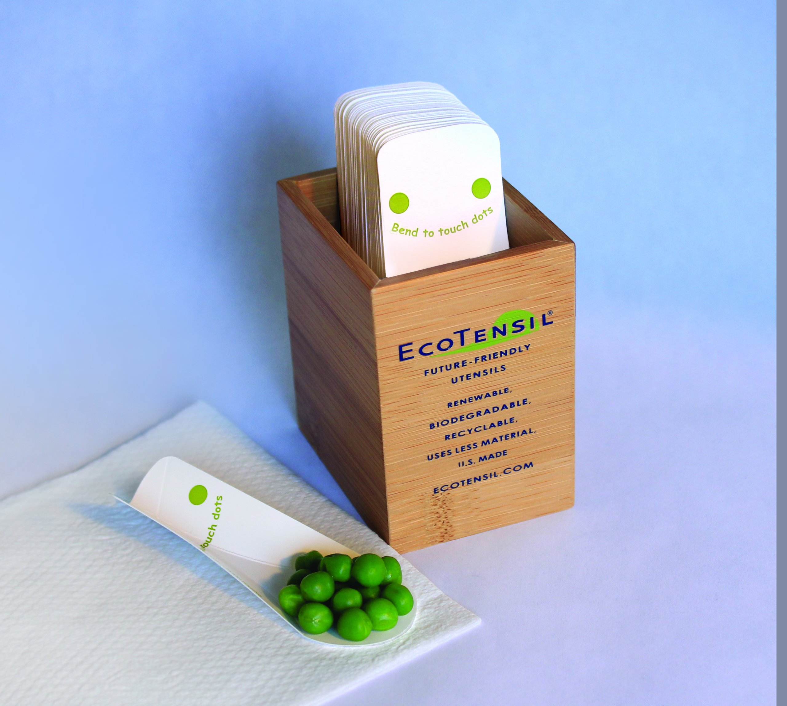 EcoTaster Mid 1,000 Biodegradable Tasting Spoons w/Dispenser