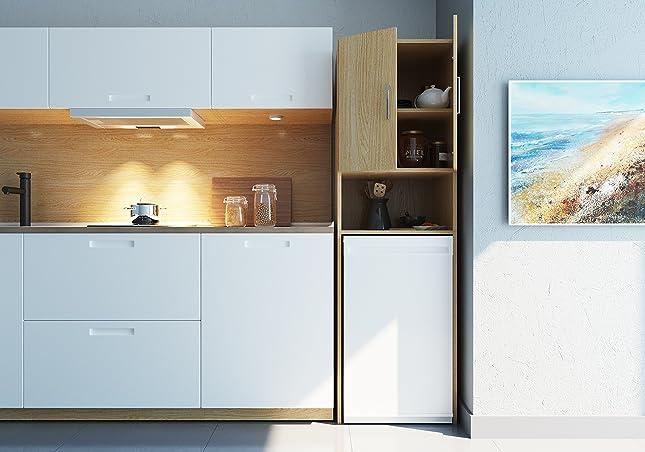 Hochschrank Eiche Sonoma 180 X 45 Cm - Umbauschrank Waschmaschine