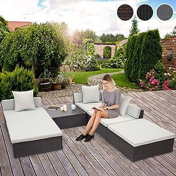 Miadomodo - Conjunto de sofás de Esquina con Mesa - Multifuncional – Color Gris