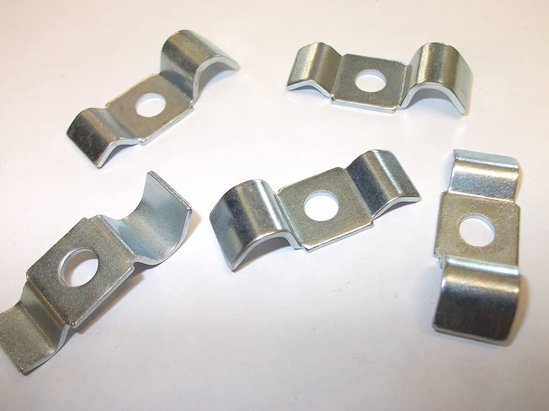 5 x Brake Pipe Clips Metal BZP 33mm x 13mm x 6mm Hole