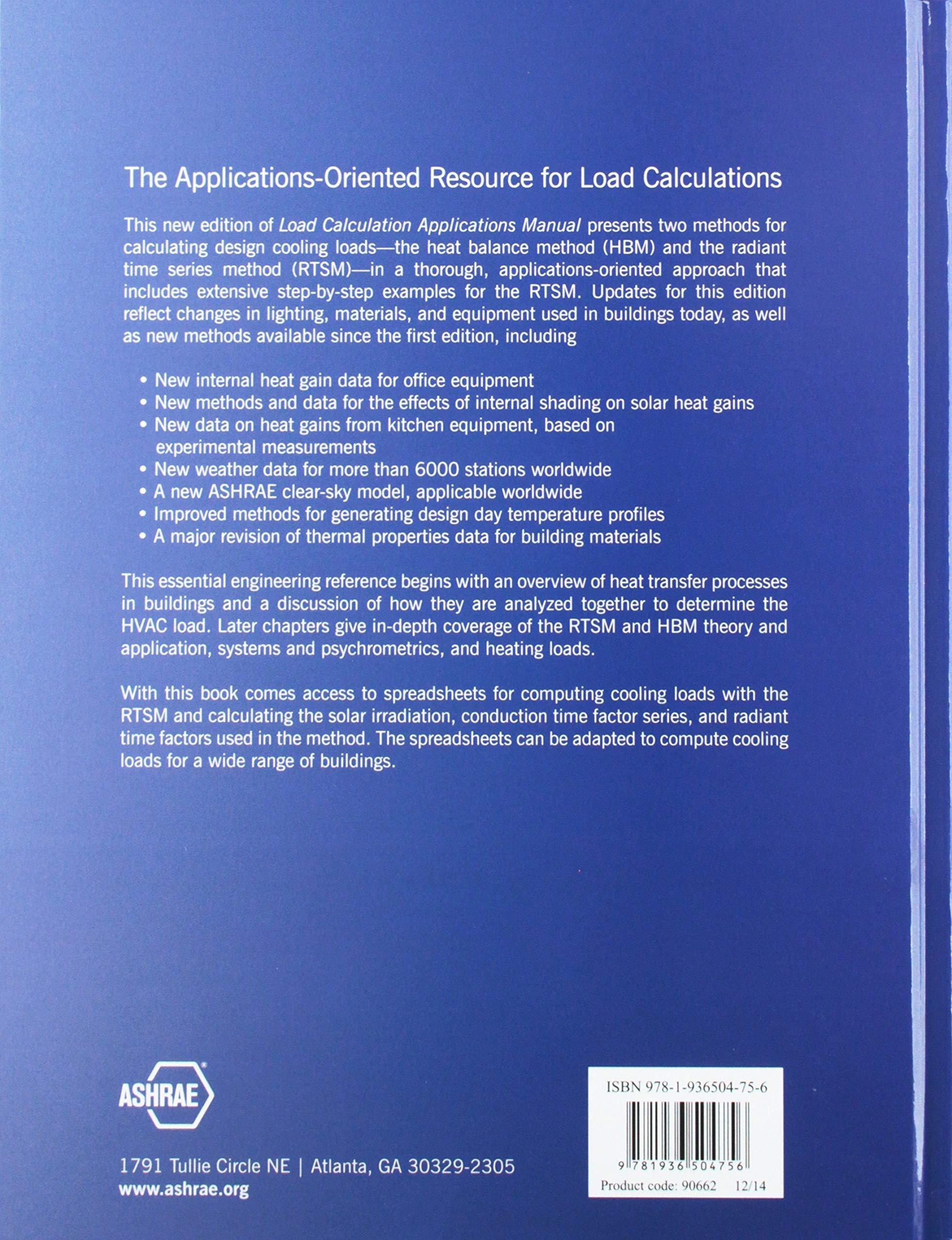 Load Calculation Applications Manual I-P version: ASHRAE