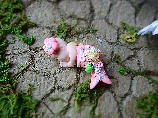 Miniature Fairy Garden Beach Ocean Scene Decorations, Cute Fairy Garden  Mermaid Baby, Fairy Garden