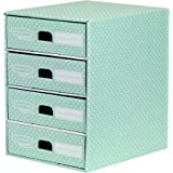 Bankers Box Style 4 Drawer Unit - Green/White
