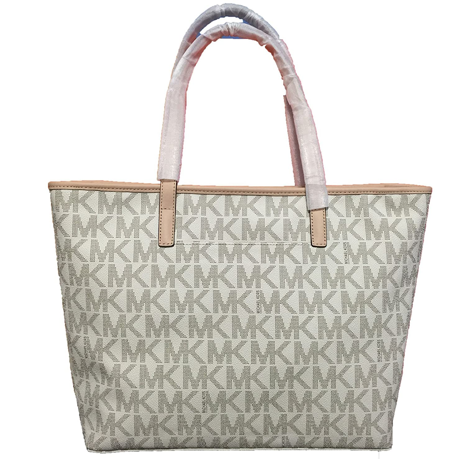 d6df96ca64ab Michael Kors Vanilla Jet Set Monogram Tote Handbag RRP £270: Amazon.co.uk:  Shoes & Bags