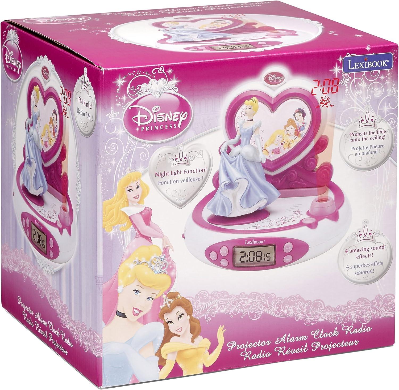 LEXIBOOK Princesas Disney - Radio Despertador con proyector ...