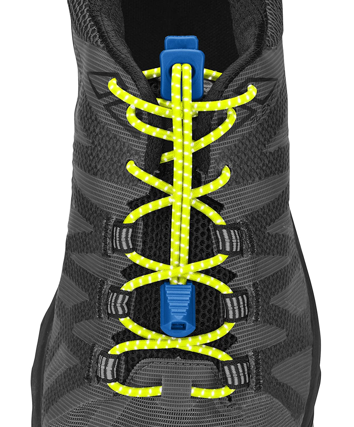 Elastic No Tie Shoe Laces for Running and Active Sports Steel Grey One Size SHOCK DOCTOR NATHAN NS1171-0198-00 Nathan Reflective