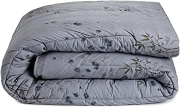 Amazoncom Calvin Klein Home Bamboo Flower Cotton Reversible - Brown pattern bedding double duvet set calvin klein bamboo bedding