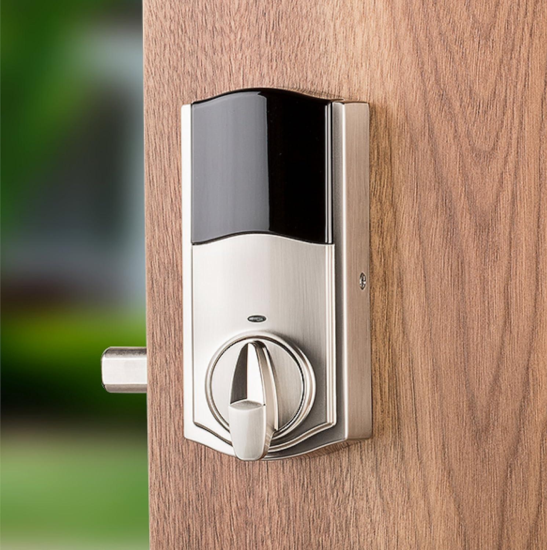 in Venetian Bronze Kwikset Premis Touchscreen Smart Lock Works with Apple HomeKit via Apple HomePod or Apple TV