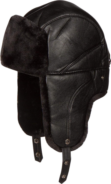 Sakkas Samy Adjustable Aviator Ushanka Trapper Hat Faux Fur Warm Soft Water-Resist